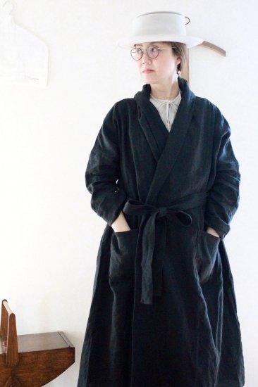 【10/2まで期間限定販売】AN Linen/はおりコート リネンブラック
