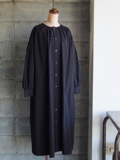 【10/2まで期間限定販売】AN Linen/前開きワンピースmoi 馬布ブラック