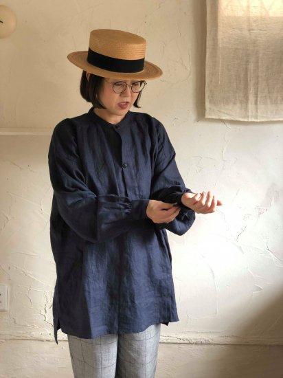 【10/2まで期間限定販売】AN Linen/ユニセックスシャツPorter ジャパンリネンネイビー