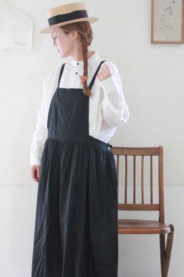 【10/2まで期間限定販売】AN Linen/エプロンドレス フレンチリネン黒