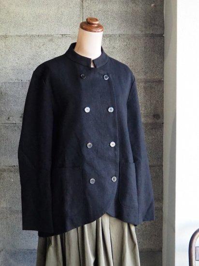 nuuno./マオカラージャケット 綿麻黒
