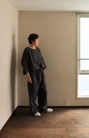 nuuno./休日のセットアップ リネンダークグレー【リネンバッグ付き】