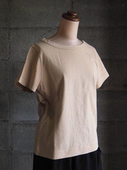 nuuno./Tシャツ【半袖】綿ベージュ