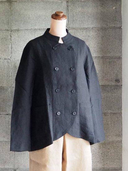 nuuno./マオカラージャケット リネン黒