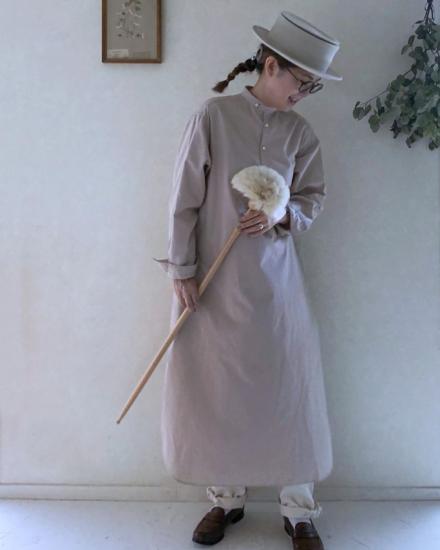 【10/2まで期間限定販売】AN Linen/ロングシャツワンピース『糸 ito』コットンリネンサクラ
