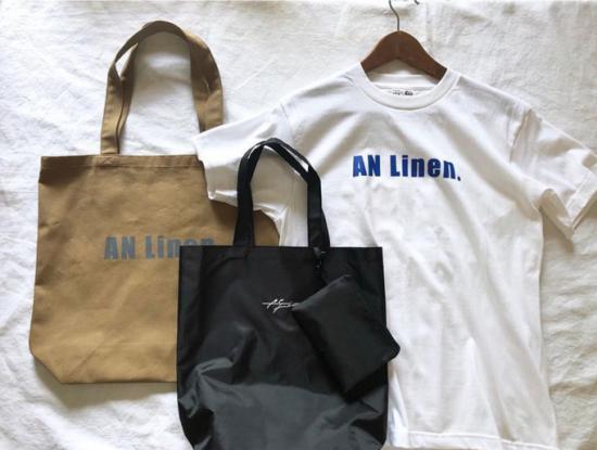 【10/2まで期間限定販売】AN Linen/AN Linenオリジナル トートバッグ2種