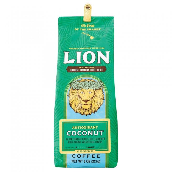 ライオンコーヒー アンチオキシダント ココナッツ 227g×15個(粉)