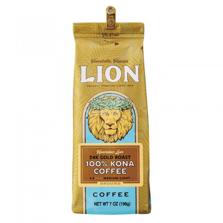 ライオンコーヒー 100%コナ 24Karat 198g×15個(粉)