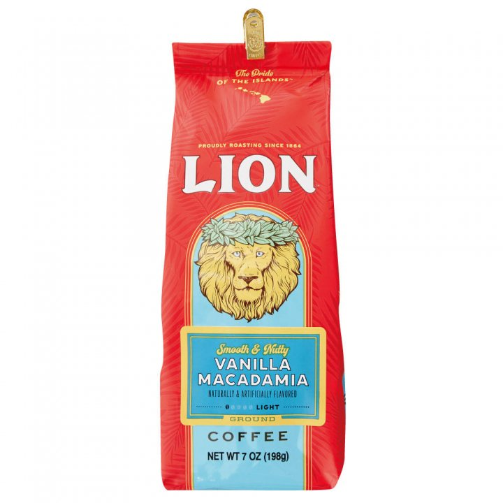 ライオンコーヒー バニラマカダミア 198g×15個(粉)