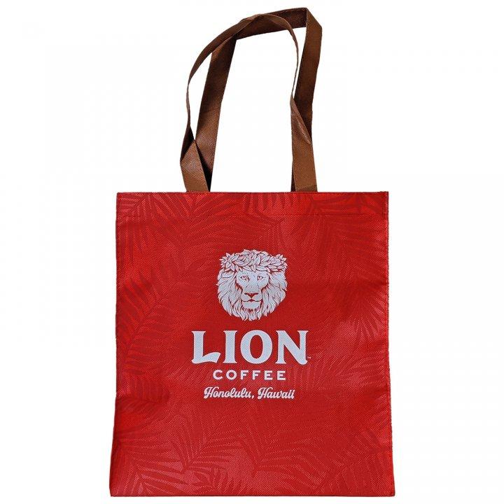 ライオンコーヒー ロゴ入りオリジナル不織布バッグ 10枚セット