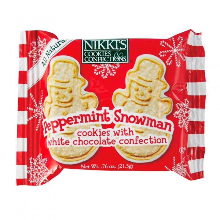 ニッキーズクッキー ペパーミントスノーマン スナックパック 21.5g×48個