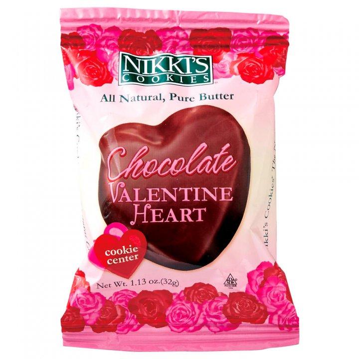 ニッキーズクッキー チョコレートバレンタインハート 32g×30個