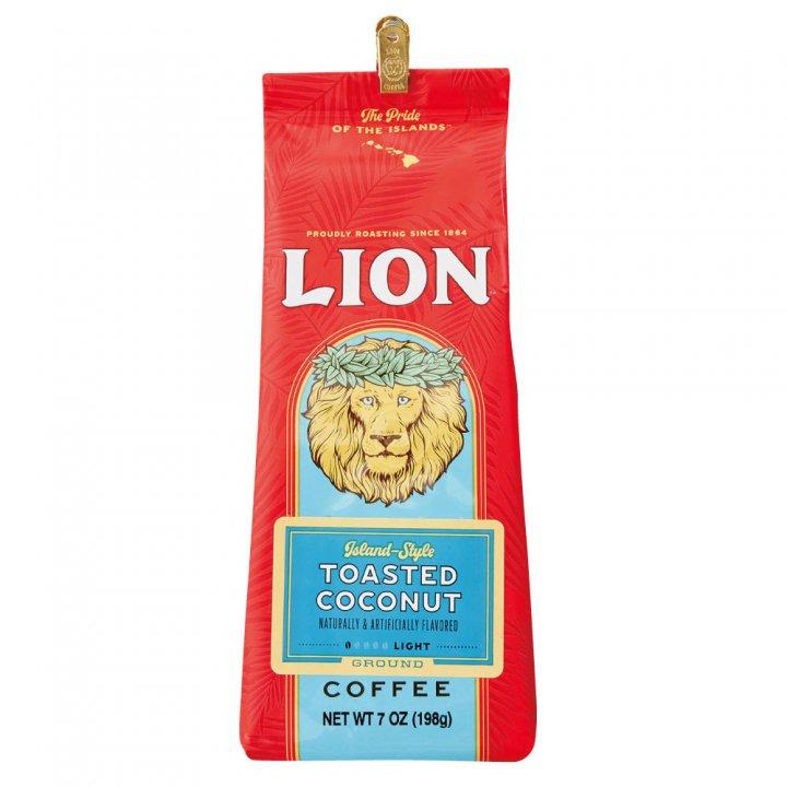 ライオンコーヒー トーステッドココナッツ 198g×15個(粉)