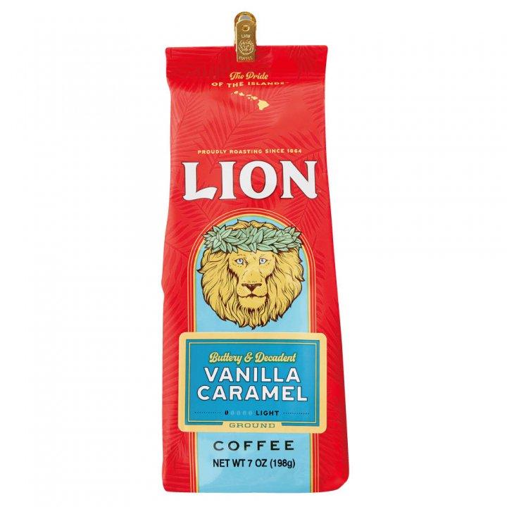 ライオンコーヒー バニラキャラメル 198g×15個(粉)