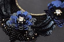 リュネビル刺繍のミラー飾り