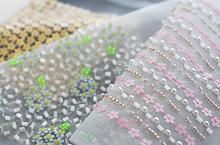 花モチーフスパンコールの刺繍例