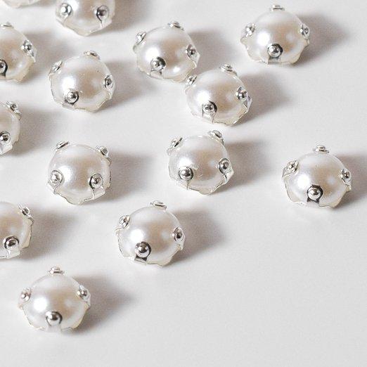 【縫い付け用ラインストーン】4mm ホワイトパール