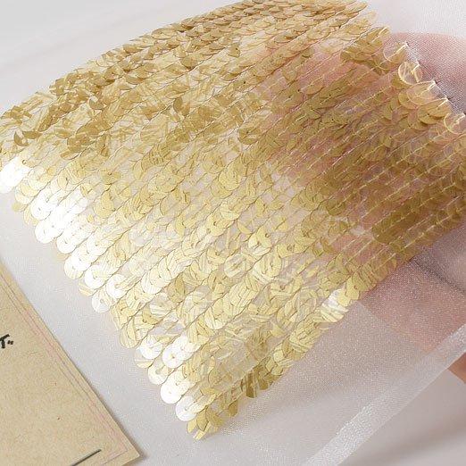 【 糸通しスパンコール 】4mm平 流水ゴールド【1000枚】