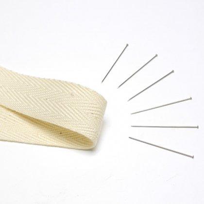 入荷予定未定【刺繍枠用】綿テープとシルクピンのセット