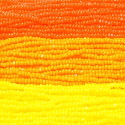 【シャーロットビーズアソート】ゴールデンイエロー・オレンジクリーム・キャロットオレンジ【3色入り】