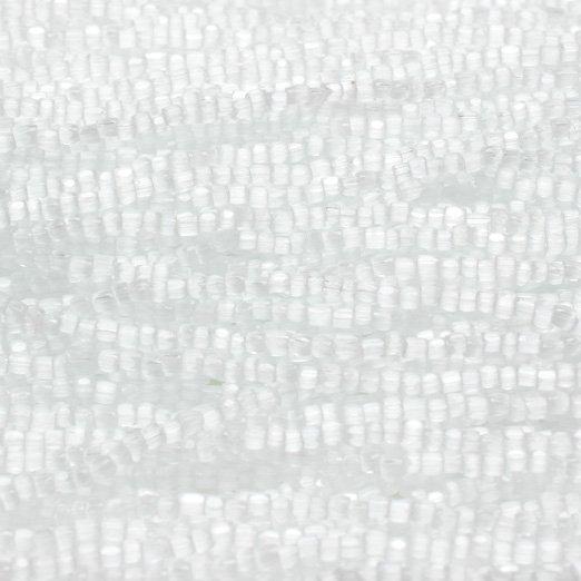 【チェコ製・糸通しビーズ】9/0 3cut シルクホワイト