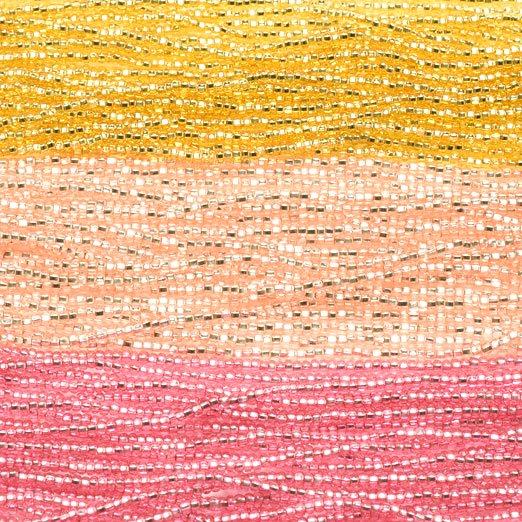 【11/0ビーズアソート】スパークリングゴールド・ロゼ・クランベリー【3色入り】