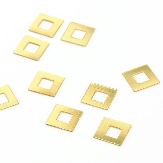 【ヴィンテージスパンコール】6x6mm スクエア ゴールド