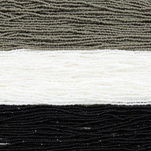 【13/0シャーロットビーズアソート】チャコールグレー・ブライトホワイト・ブラック【3色入り】