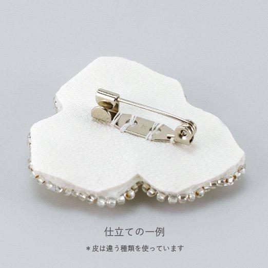 在庫限り【刺繍の仕立て用材料セット】 ブローチ用 【選べる4カラー】