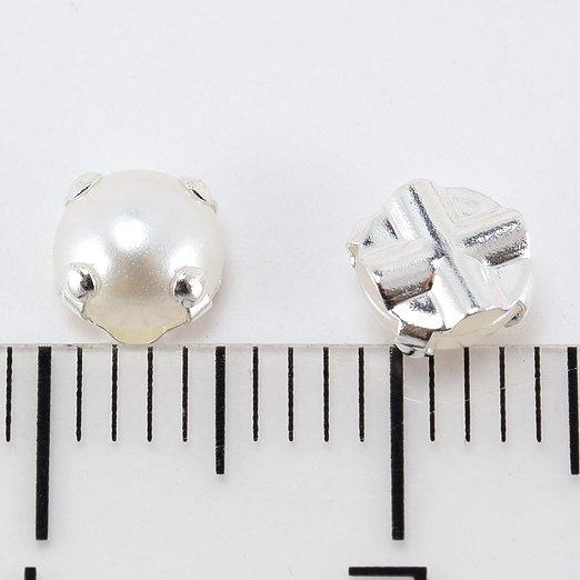 【縫い付け用ラインストーン】5mm ホワイトパール