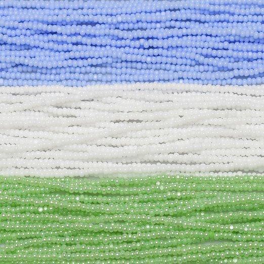 在庫限り【シャーロットビーズアソート】ベビーブルー・ホワイト・パールミントグリーン【3色入り】