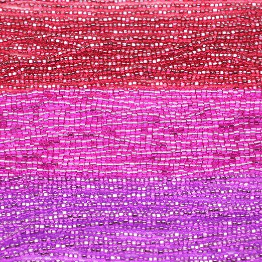 【11/0チェコビーズアソート】スパークリングルビー・アゼリアピンク・リラ【3色入り】
