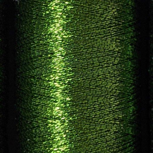 在庫限り【ギッターマン】メタリック糸 グリーンティー 200m巻き