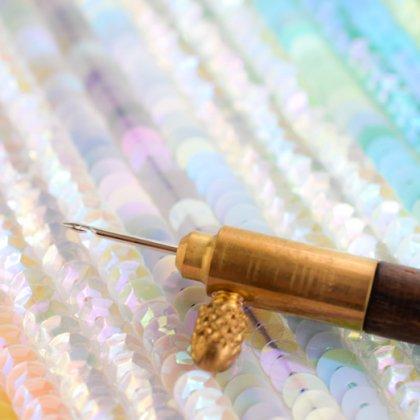 【 リュネビル刺繍の道具 】クロシェ・ド・リュネビル  #80【 オートクチュール刺繍 】