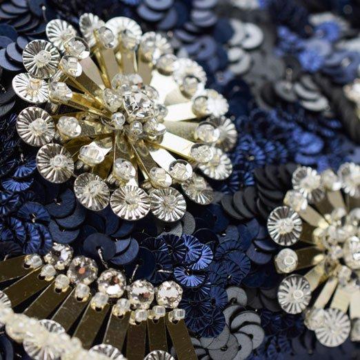 【糸通しスパンコール】3mm亀甲 メタリックシルバー【1000枚】