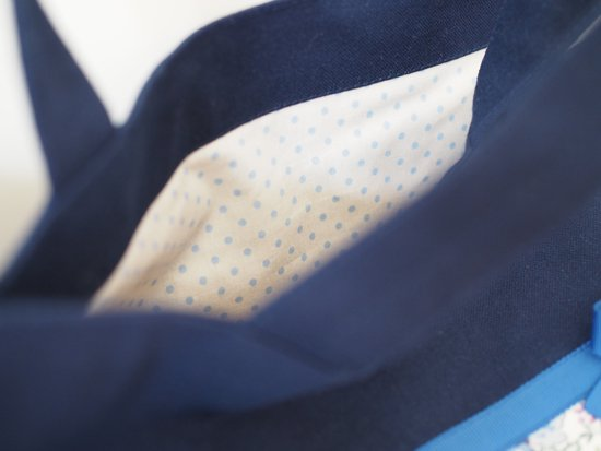 Elegant Ribbon(レッスンバッグ紺色)