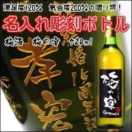 【梅酒】名入れ 彫刻ボトル 梅の宴 720ml 父の日 誕生日 還暦 退職 お中元 お歳暮 記念日などの贈り物