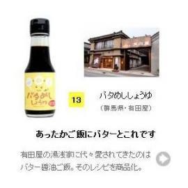 【醤油(しょうゆ)・加工品タイプ】バタめししょうゆ 100ml (群馬県・有田屋)