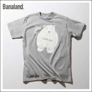 (MEN) バナランド デザイン Tシャツ メンズ ブランド 白クマ ホッキョクグマ アニマル グラフィック