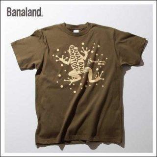 (MEN) バナランド デザイン Tシャツ メンズ ブランド カエル アニマル エコ グラフィック