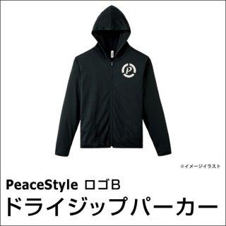 PeaceStyleロゴB ドライジップパーカー(ブラック×オフホワイト)