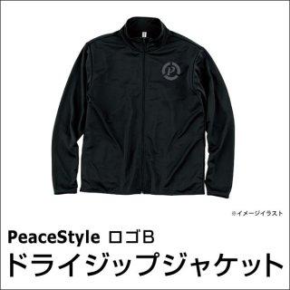 PeaceStyleロゴB ドライジップジャケット(ブラック×ダークグレー)
