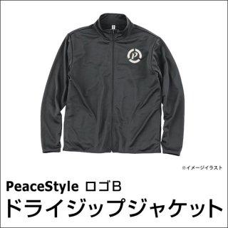 PeaceStyleロゴB ドライジップジャケット(ダークグレー×オフホワイト)