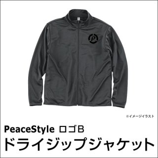 PeaceStyleロゴB ドライジップジャケット(ダークグレー×ブラック)