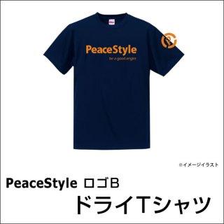 PeaceStyleロゴB ドライTシャツ(ネイビー×オレンジ)