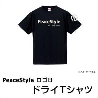 PeaceStyleロゴB ドライTシャツ(ブラック×オフホワイト)