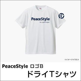 PeaceStyleロゴB ドライTシャツ(ホワイト×ネイビー)