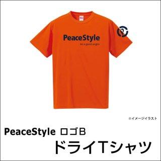 PeaceStyleロゴB ドライTシャツ(オレンジ×ネイビー)