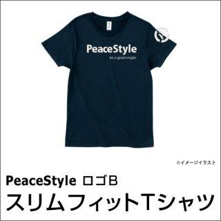 PeaceStyleロゴB スリムフィットTシャツ(ネイビー×オフホワイト)