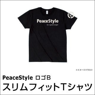 PeaceStyleロゴB スリムフィットTシャツ(ブラック×オフホワイト)